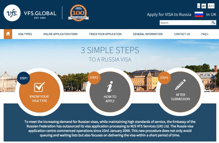 Russia Visa Information - UK - Home Page