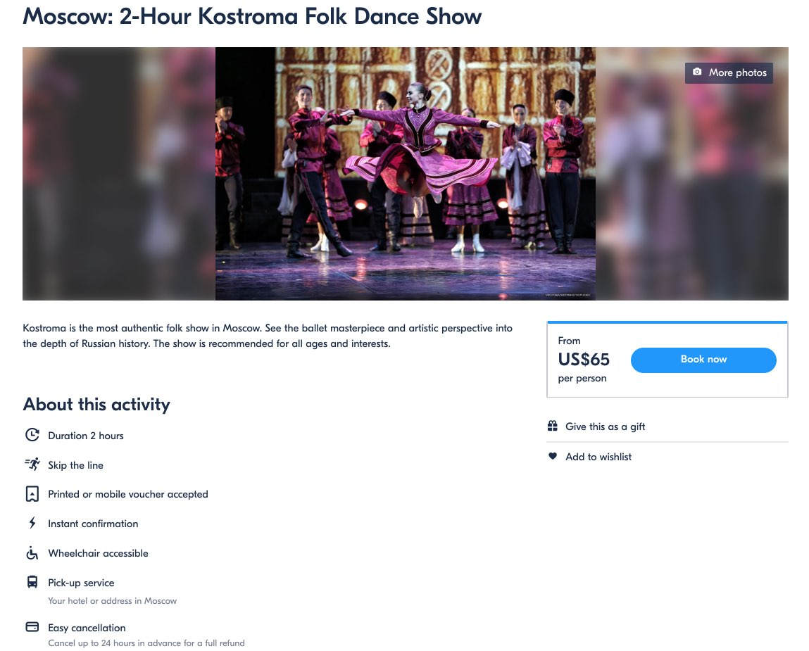 Moscow - Kostroma Folk Dance Show Tickets